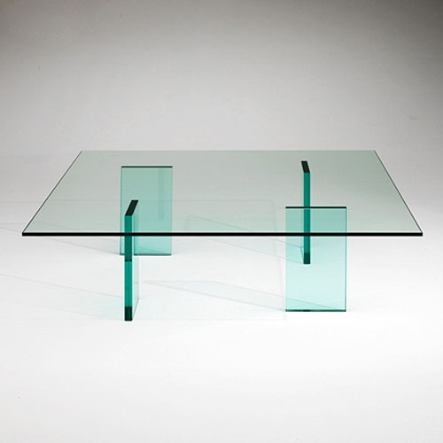 Fantastic Deluxe Glass Coffee Tables With Shelf Within Glas Italia Glass Coffee Table Shiro Kuramata Stardust (View 17 of 50)