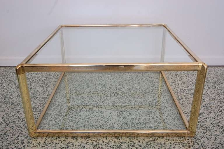 Fantastic Deluxe Glass Gold Coffee Tables Intended For Luxurious Gold Glass Coffee Table (View 10 of 50)