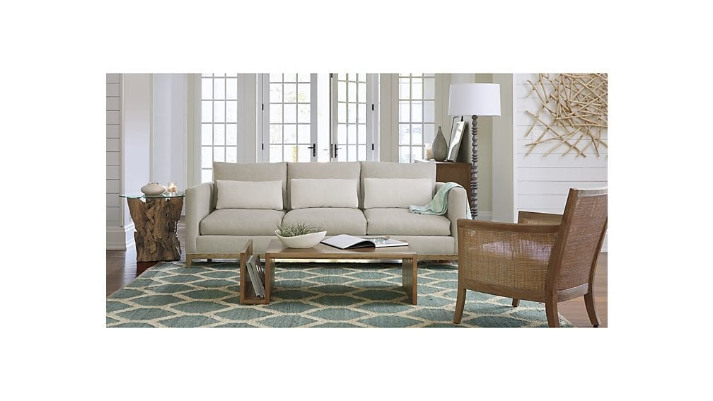 Fantastic Deluxe Grey Wash Coffee Tables Regarding Driftwood Round Side Table Crate And Barrel (View 39 of 50)