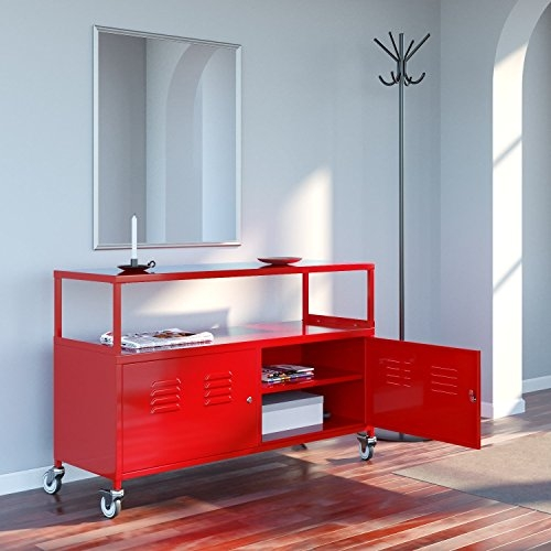 Fantastic Deluxe Lockable TV Stands In Fasthomegoodstuscany Metal Lockable Tv Stand Cabinet Media Sto (Image 22 of 50)