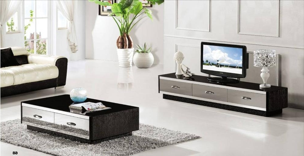 Fantastic Deluxe Matching Tv Unit And Coffee Tables Throughout Coffee Table And Tv Stand Set High Furniture (Image 17 of 40)