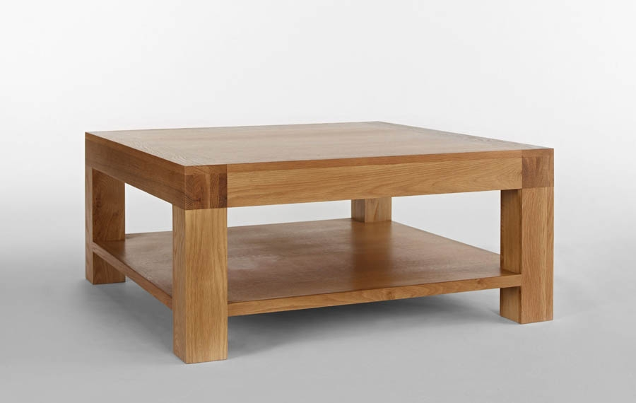 Fantastic Deluxe Oak Square Coffee Tables For Santana Blonde Oak Square Coffee Table (View 13 of 50)