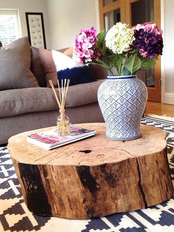 Fantastic Deluxe Round Beech Coffee Tables Inside Best 25 Log Coffee Table Ideas On Pinterest Log Table Wood (Image 23 of 50)