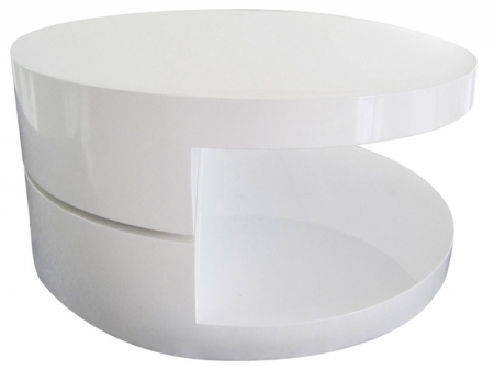 Fantastic Deluxe Round Swivel Coffee Tables Regarding Triplo Round Swivel Coffee Table White Home Decorating Ideas (View 48 of 50)