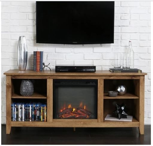 Fantastic Deluxe Rustic 60 Inch TV Stands In 60 Inch Tv Stand Fireplace Insert Rustic Heater Electric Media (Image 15 of 50)