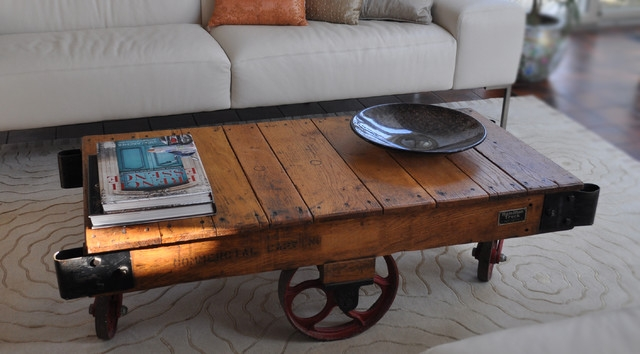 Fantastic Deluxe Rustic Coffee Table With Wheels With Regard To Rustic Coffee Table With Wheels (Image 19 of 50)