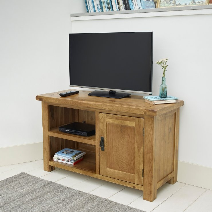 Fantastic Deluxe Rustic TV Cabinets In Original Rustic Tv Cabinet In Solid Oak Oak Furniture Land (Image 13 of 50)
