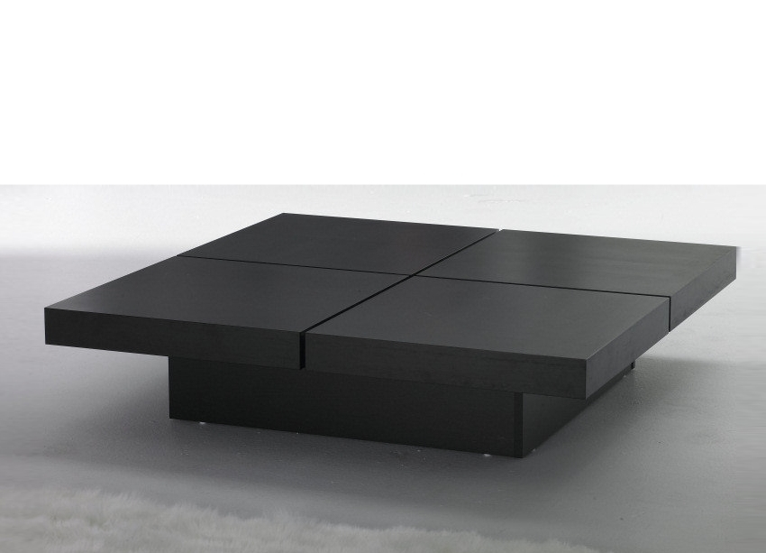Fantastic Deluxe Square Black Coffee Tables With Square Black Modern Coffee Table Elegant Black Modern Coffee (View 22 of 40)