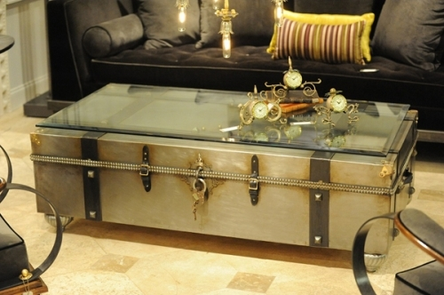 Fantastic Deluxe Stainless Steel Trunk Coffee Tables Throughout Trunk Coffee Table Creating A Life Vintage Trunk Coffee Table (View 12 of 50)