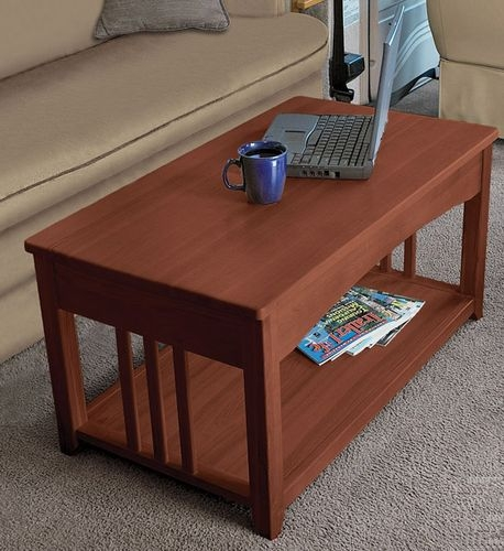 Fantastic Deluxe Swing Up Coffee Tables Intended For Multipurpose Lift Top Rv Coffee Table That Is Just Right For The Rv (Image 13 of 40)