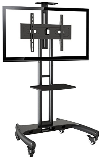 Fantastic Deluxe TV Stands For 70 Inch TVs Intended For Amazon Rocelco Vstc Adjustable Height Mobile Tv Stand For  (Image 17 of 50)