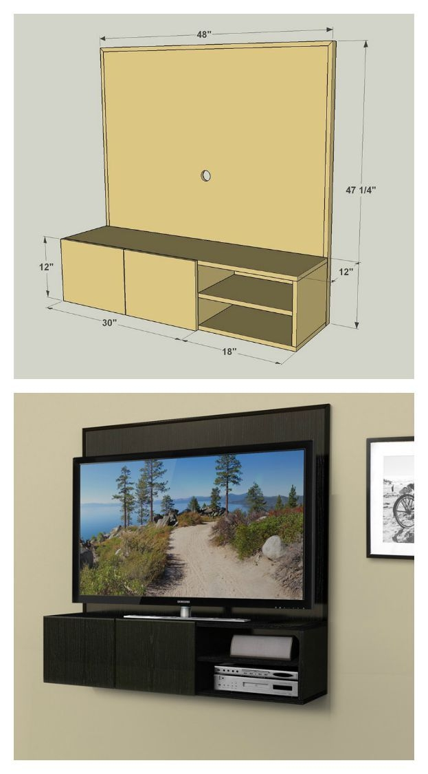 Fantastic Deluxe TV Stands With Back Panel Regarding Best 25 Wall Mount Tv Stand Ideas On Pinterest Tv Mount Stand (View 33 of 50)
