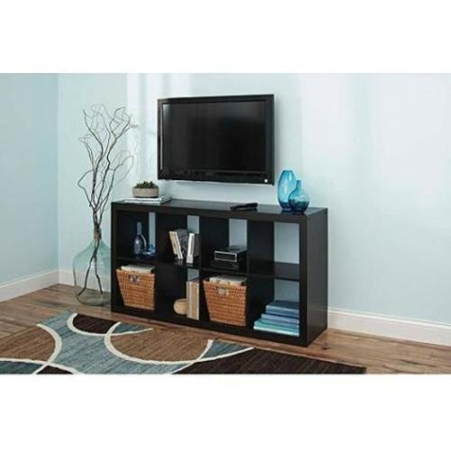 Fantastic Deluxe TV Stands With Storage Baskets Within Bookcase Tv Stand 8 Cube Organizer Storage Shelf Wood Furniture (Image 12 of 50)
