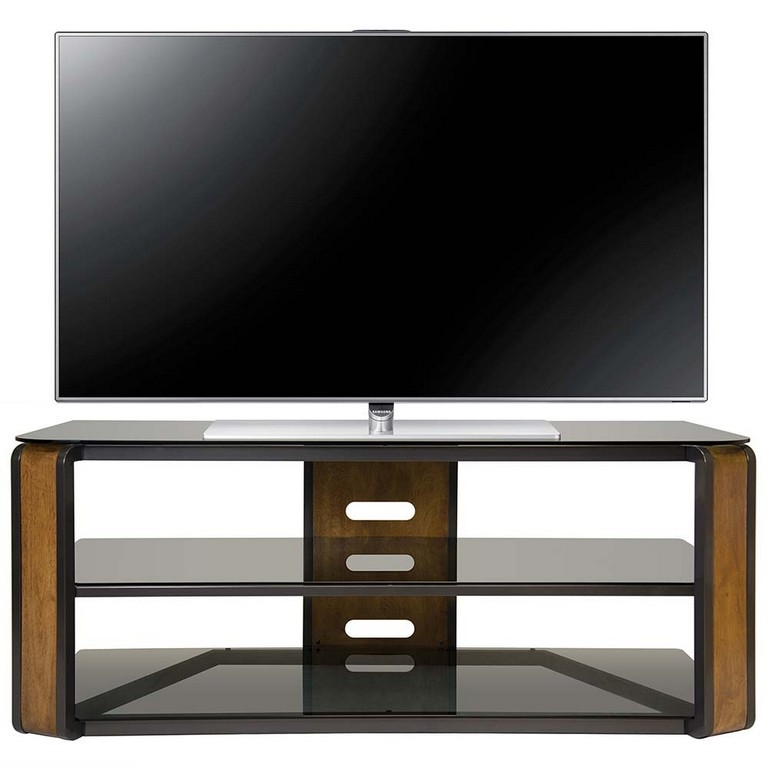 Fantastic Deluxe Walnut TV Stands For Flat Screens With Walnut Tv Cabinet Uk Bdi Cavo Natural Walnut Tv Stand With Walnut (Image 20 of 50)