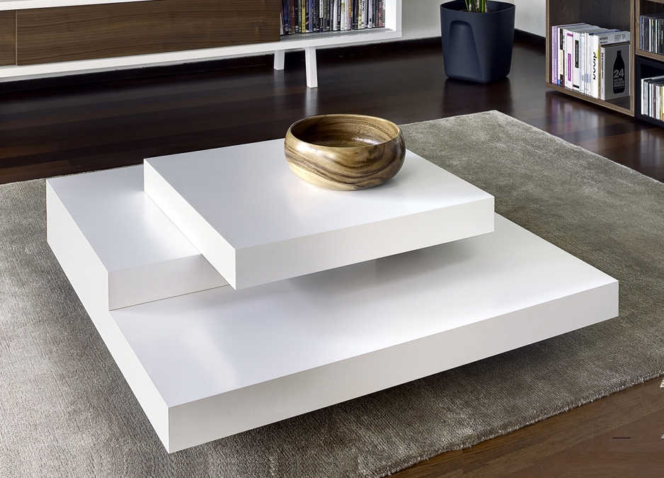 Fantastic Deluxe White Square Coffee Table Pertaining To Tables With