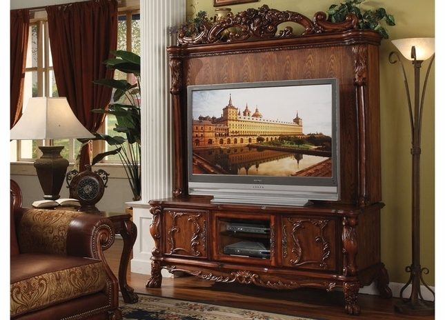 Fantastic Elite Antique Style TV Stands In Antique Style Ornate Tv Stand Hutch In Traditional Cherry Oak (Image 15 of 50)