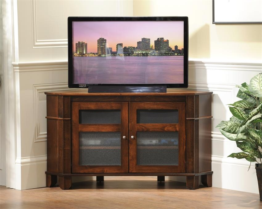 Fantastic Elite Cherry TV Stands With Regard To Amish Arlington Corner Tv Stand (Image 17 of 50)
