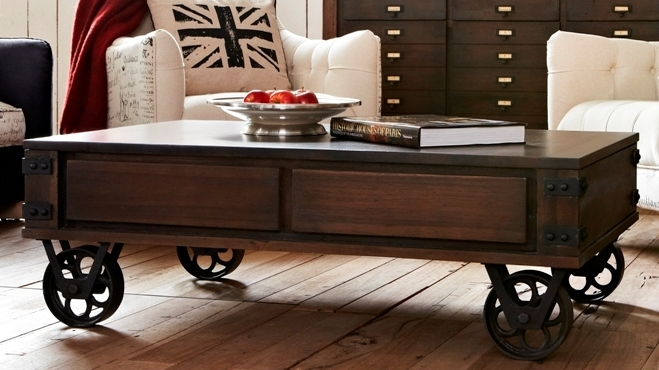 Fantastic Elite Coffee Tables With Wheels In Coffee Table Appealing Coffee Table With Wheels Rustic Coffee (View 27 of 40)
