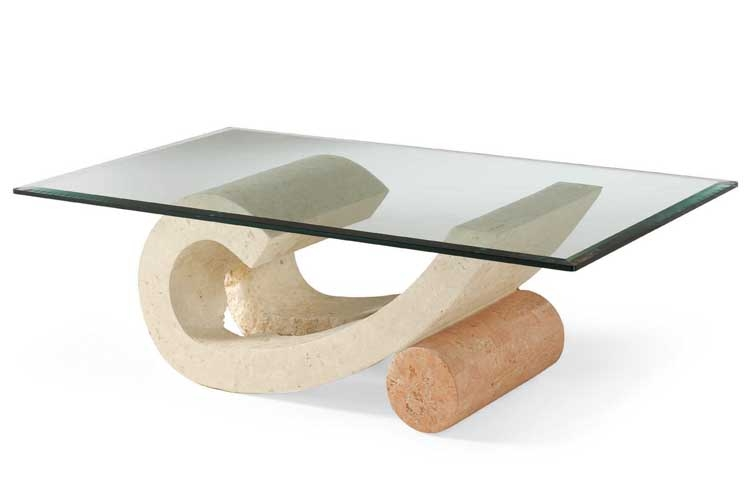 Fantastic Elite Glass And Stone Coffee Table Intended For Coffee Table Virgola 0001 Furniture Inspiration Ideas Stone And (Image 18 of 50)
