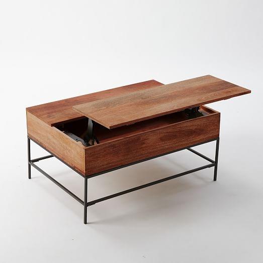 Fantastic Elite Hardwood Coffee Tables With Storage In Industrial Storage Coffee Table West Elm (View 3 of 50)