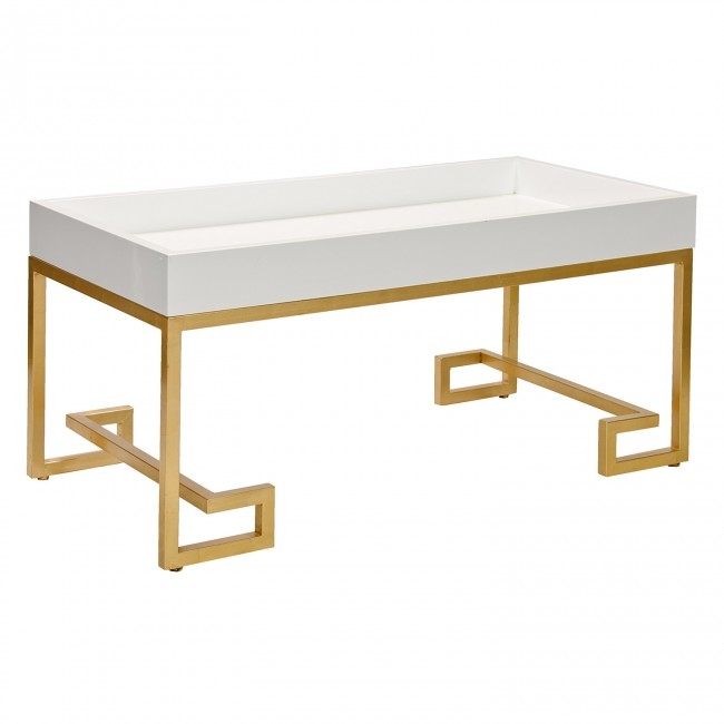 Fantastic Elite Lacquer Coffee Tables Inside Chelsea White Lacquer Coffee Table (Image 18 of 40)