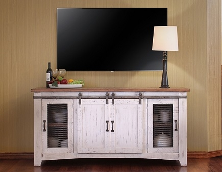 Fantastic Elite Rustic White TV Stands Within Ifd360stand W The Rustic Mile (View 5 of 50)