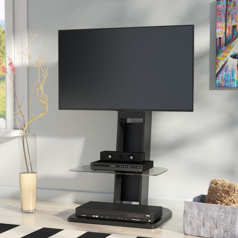 Fantastic Elite Single Shelf TV Stands Intended For Flat Panel Mount Tv Stands Youll Love Wayfair (View 34 of 50)