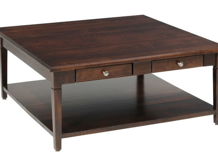 Fantastic Elite Square Dark Wood Coffee Table Throughout Large Square Coffee Table On Pinterest Build A Coffee Table (Image 15 of 40)