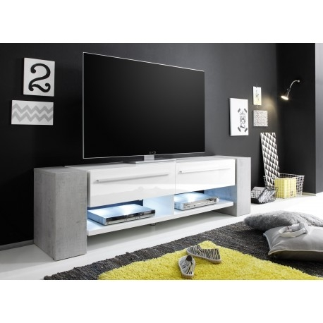 Fantastic Elite TV Stands With LED Lights Within Time White Tv Stand With Stone Imitation Legs Tv Stands Sena (Image 19 of 50)