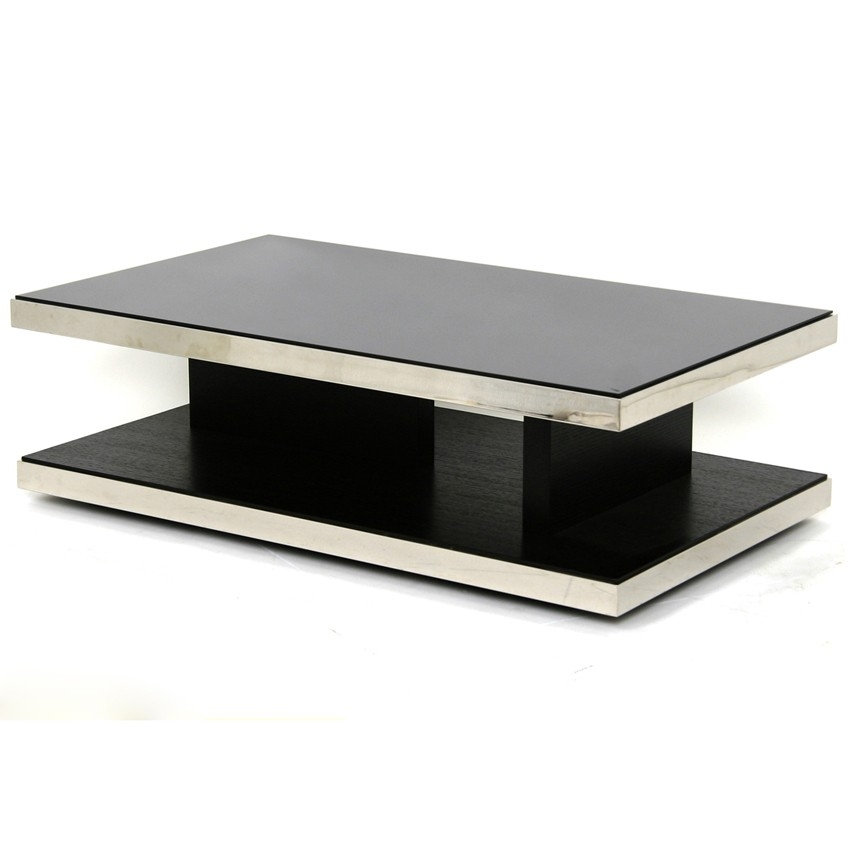Fantastic Famous Black Glass Coffee Tables With Black Glass Coffee Table For Great Choice Of Contemporary And (Image 23 of 50)