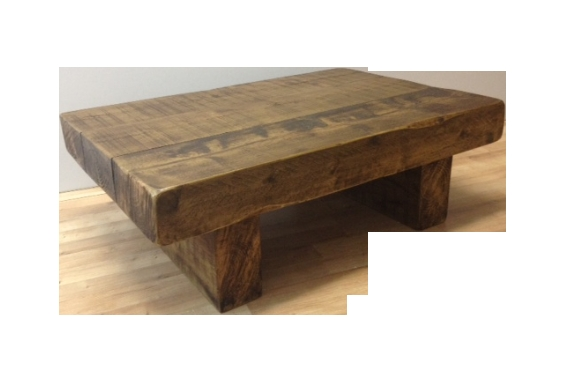 Fantastic Famous Chunky Wood Coffee Tables With The 3ft X 2ft Chunky Rustic Coffee Table Ely Rustic Furniture (Image 16 of 50)