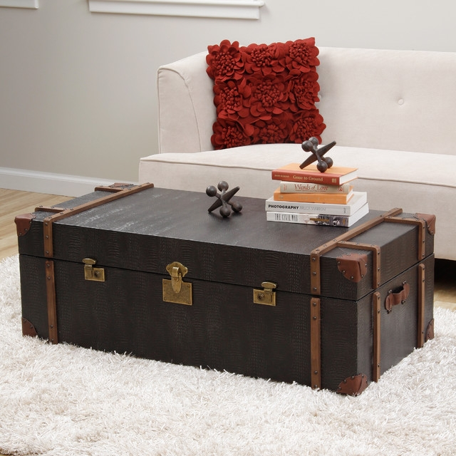 Fantastic Famous Dark Wood Chest Coffee Tables Within Modern Trunk Coffee Table Table And Estate (Image 18 of 50)