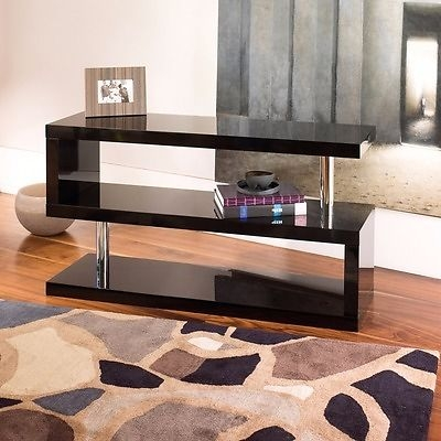 Fantastic Famous Dwell TV Stands Regarding Tv Stand Black Gloss From Dwell In London Gumtree (Image 17 of 50)