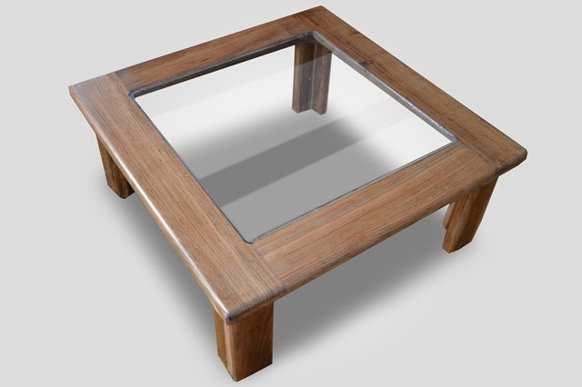 Fantastic Famous Hardwood Coffee Tables With Storage Intended For Square Wood Coffee Table With Glass Top Square 1 0 High (View 42 of 50)