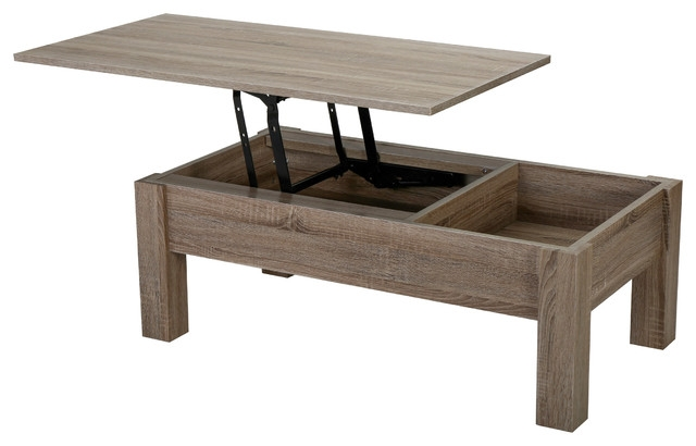 Fantastic Famous Lift Coffee Tables Throughout Enida Wood Lift Top Storage Coffee Table Rustic Coffee Tables (Image 14 of 50)