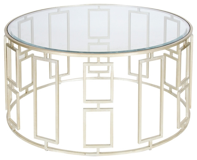 Fantastic Famous Metal And Glass Coffee Tables Inside Attentionscan Modern Round Glass Coffee Table Metal Base (View 22 of 50)