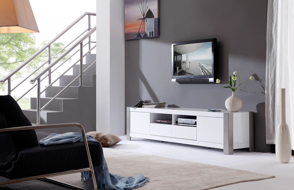 Fantastic Famous Modern White TV Stands With Regard To B Modern Composer Tv Stand White High Gloss B Modern Modern (Image 19 of 50)