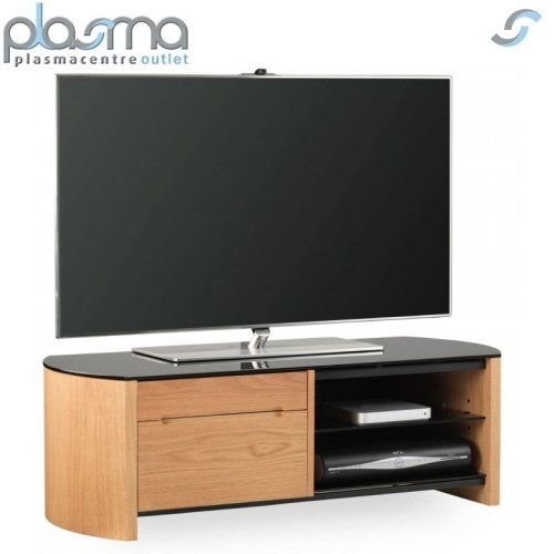 Fantastic Famous Oak Veneer TV Stands With Alphason Fw1100cb Oak Veneer Tv Stand Ebay (View 29 of 50)