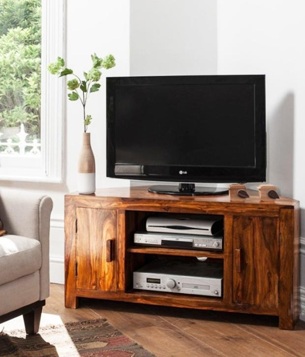 Fantastic Famous Sheesham Wood TV Stands Within Lifeestyle Handcrafted Sheesham Wood Tv Stand Buy Lifeestyle (View 39 of 50)