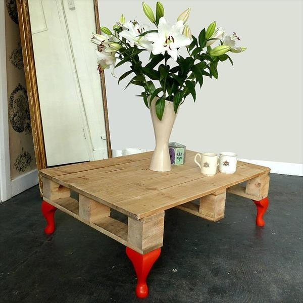 Fantastic Famous Short Legs Coffee Tables Intended For Furniture Ideas With Reclaimed Wood Pallets Newnist (Image 15 of 50)