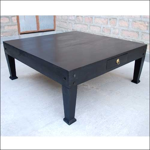 Fantastic Famous Square Black Coffee Tables Intended For Plain Square Coffee Tables Black Style Table Intended Design Ideas (View 15 of 40)