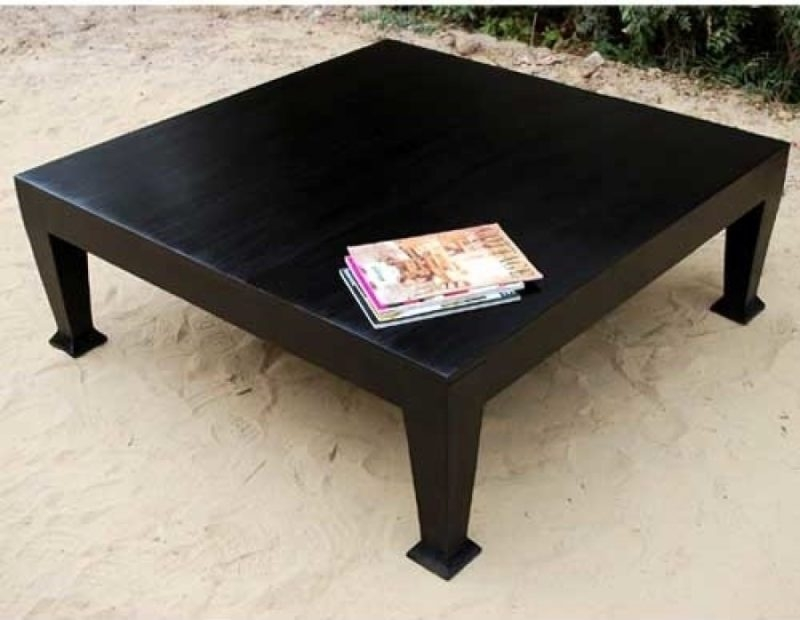 Fantastic Famous Square Black Coffee Tables Regarding Marvelous Black Coffee Table Design (View 5 of 40)