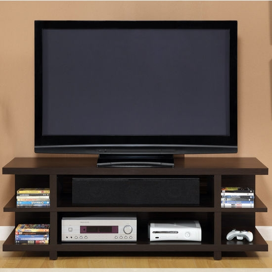Fantastic Famous TV Stands With Back Panel In Tv Stands Altra Furniture 60 Hollow Core Tv Stand With Espresso (View 16 of 50)