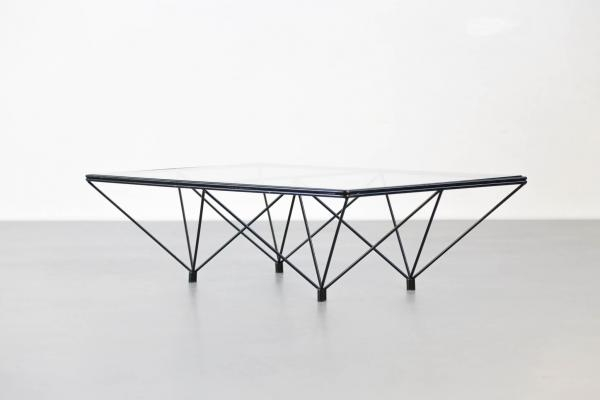Fantastic Famous Vintage Glass Top Coffee Tables Regarding Vintage Geometric Glass Top Coffee Table For Sale At Pamono (View 41 of 50)