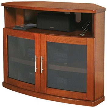 Fantastic Famous Wooden TV Stands With Doors With Amazon Plateau Newport 40 W Corner Wood Tv Stand 40 Inch (Photo 35 of 50)