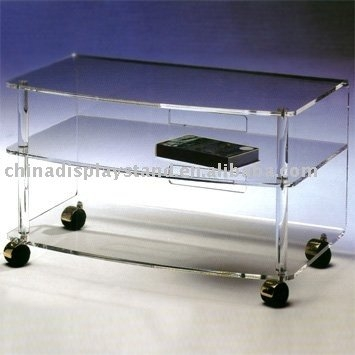 Fantastic Fashionable Acrylic TV Stands Inside Lucite Tv Standlucite Tv Tableacrylic Tv Standacrylic Tv Table (Image 17 of 50)
