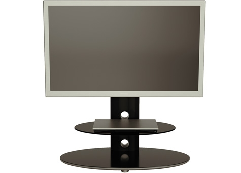 Fantastic Fashionable Bracketed TV Stands With Regard To Alphason Gradino Grdb8002 Pb Two Shelf Bracketed Av Support (Image 23 of 50)