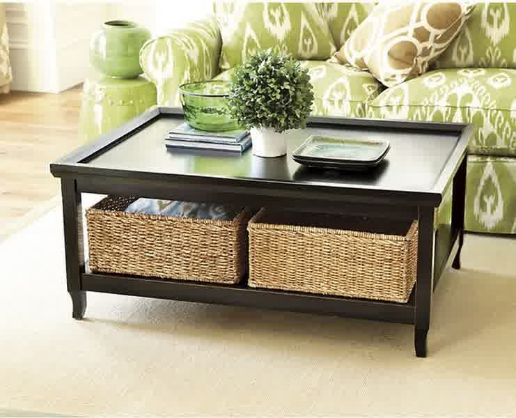 Fantastic Fashionable Coffee Table With Wicker Basket Storage Intended For Inspiring Designs Of Coffee Table With Baskets Homesfeed (Image 18 of 40)