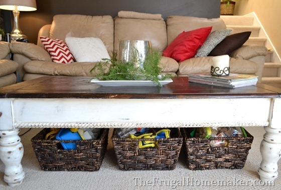 Fantastic Fashionable Coffee Tables With Baskets Underneath Regarding 15 Ways To Use Open Storage To Organize Your Home (Image 14 of 40)