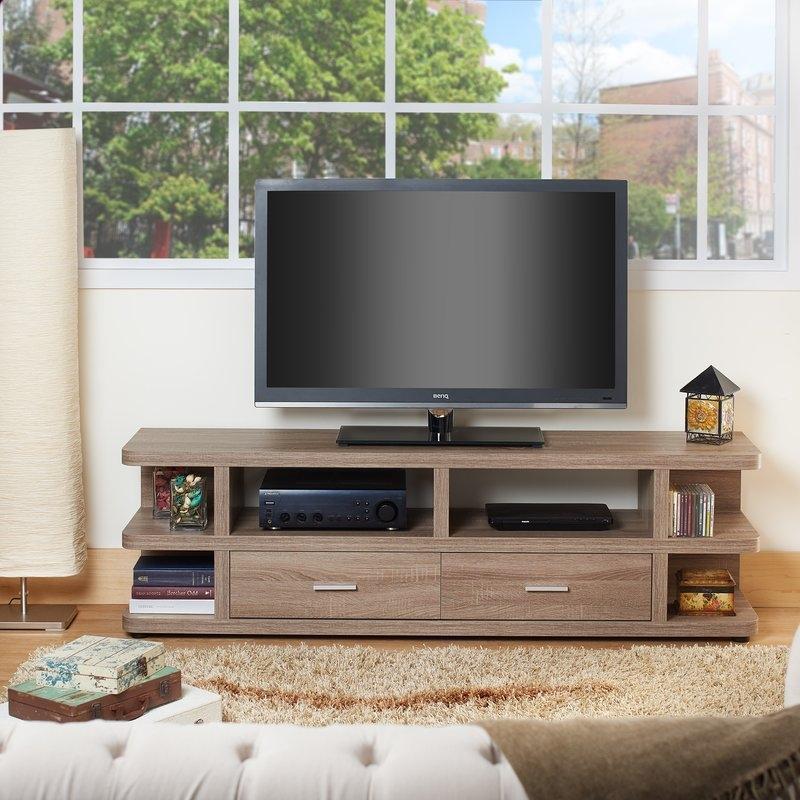 Fantastic Fashionable Hokku TV Stands Regarding Hokku Designs Guilver 72 Tv Stand Reviews Wayfair (View 35 of 50)